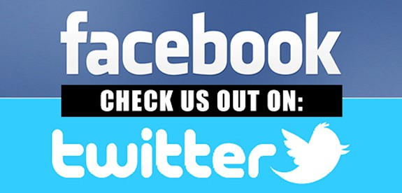 Follow us on Facebook & Twitter