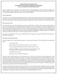 2018 Summary of Benefits Coverage (SBC) | IUOE Local 399