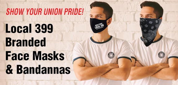 LOCAL 399 FACE MASKS & Bandannas