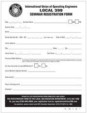 Education Forms | IUOE Local 399
