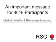 An Important 401k Message